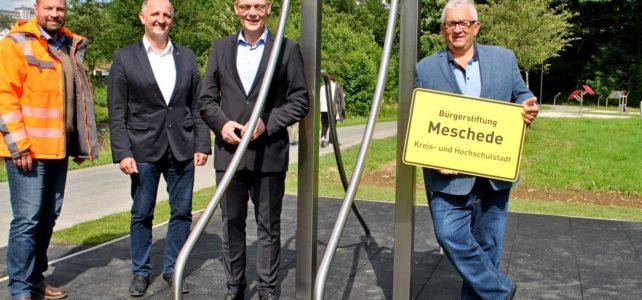 Outdoor-Fitnesspark am Henneboulevard bringt Meschede in Bewegung